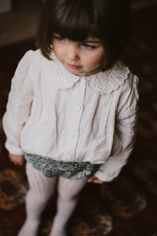 Ruby Blouse - milk linen