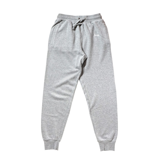 BASIC LOGO 019 light sweat pants <Gray×White> - メイン画像