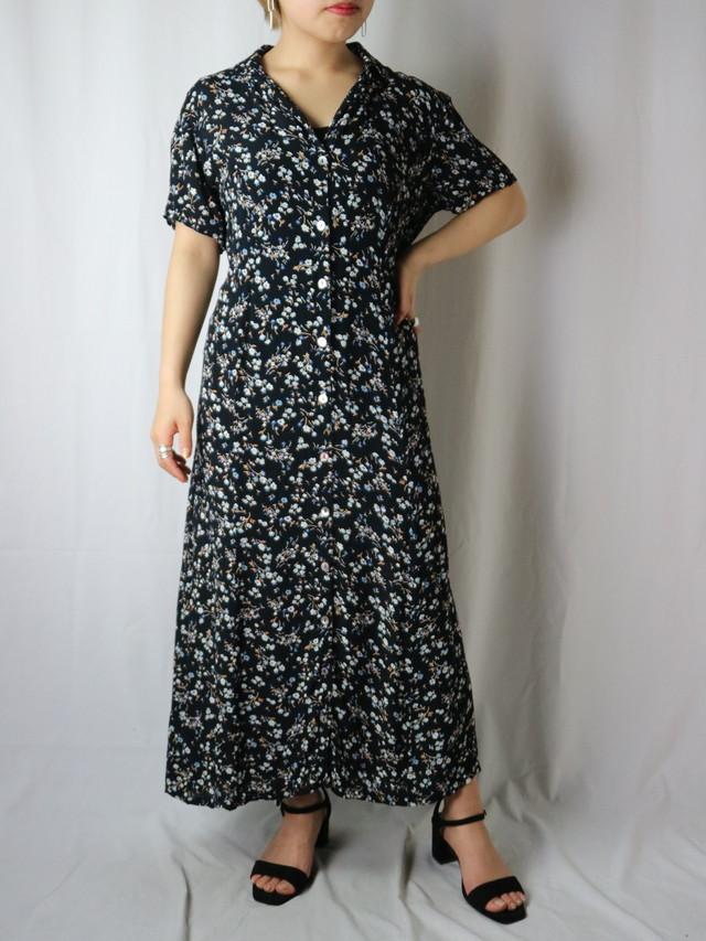 flower pattern s/s dress【5629】