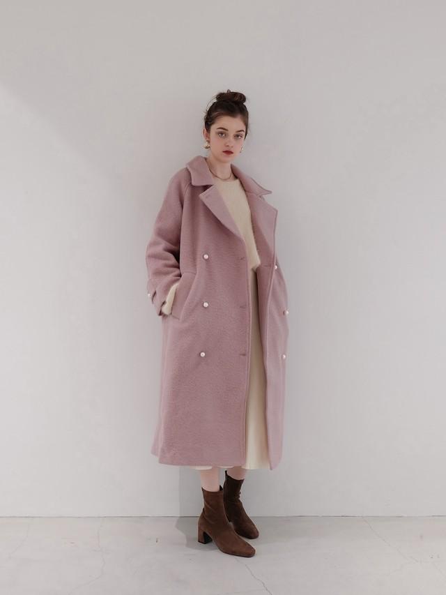 fluffy color coat(pink)