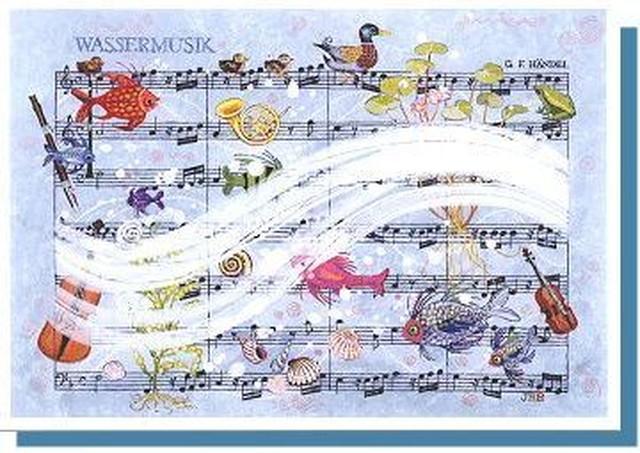 水上の音楽 / ヘンデル グリーティングカード