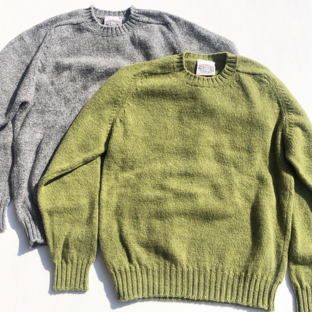"Jamieson's ""Saddle Shoulder Crew Neck Sweater"""