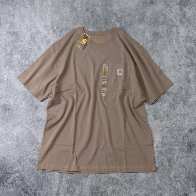 """新品 """" CARHARTT """" カーハート ポケット ロゴTシャツ (SAND BEIGE) USA規格 新品"""
