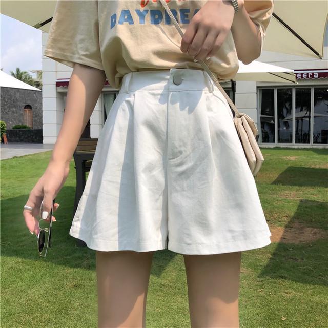 【ボトムス】ハイウエストストリート系カジュアルショートパンツ20394690