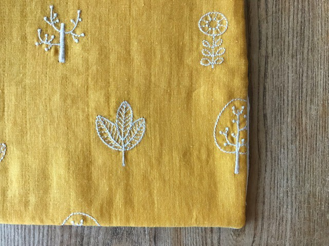 tendre / タオルとガーゼのふっくらハンカチ (ことり‐アイボリー)