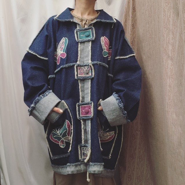 vintage over sized denim outer