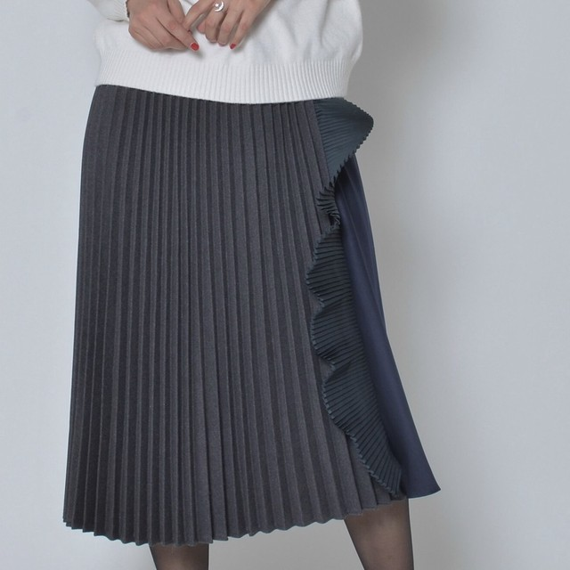 nselection プリーツ切替スカート / GY