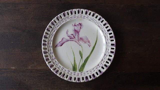 19世紀後期 Rovina Epnal作 飾デザート皿