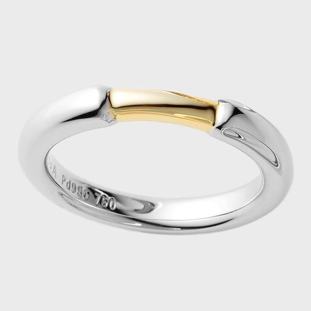 PORTADA BABY RING PUENTE(ダイヤなし)K18YG×Pd950(ポルターダ ベビーリング プエンテ K18イエローゴールド×パラジウム950)