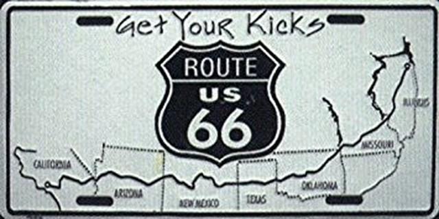 引続きセール主力商品20%OFF!  【ライセンスプレート】ROUTE 66 Get your Kicks