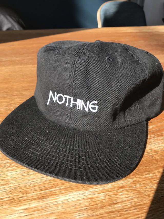 NOTHING CAP / BLK