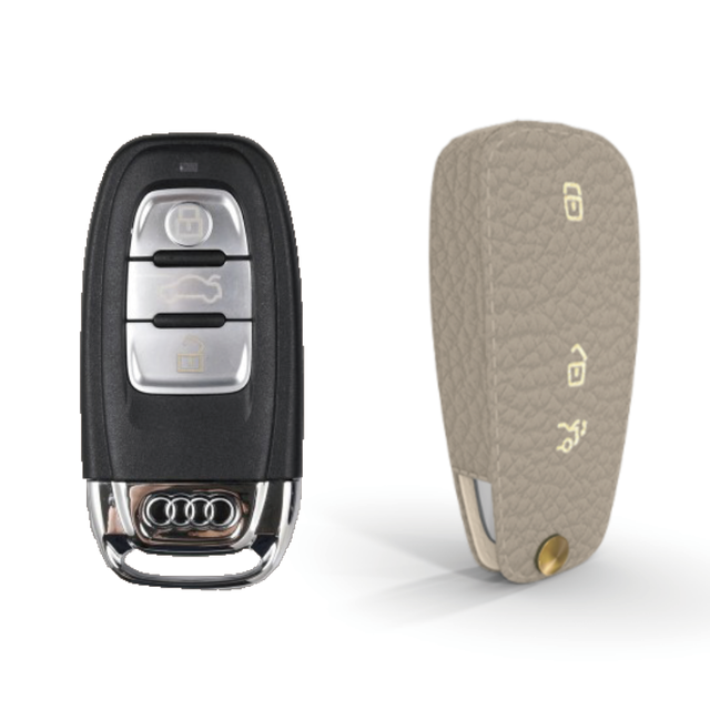 Audi 専用 TypeC Car Key Case Shrink Leather Case