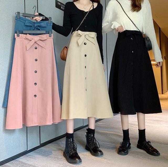 スカート ひざ丈スカート ロングスカート SHQ523101