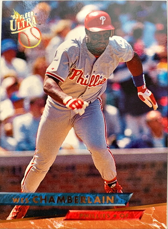 MLBカード 93FLEER Wes Chamberlain #085 PHILLIES