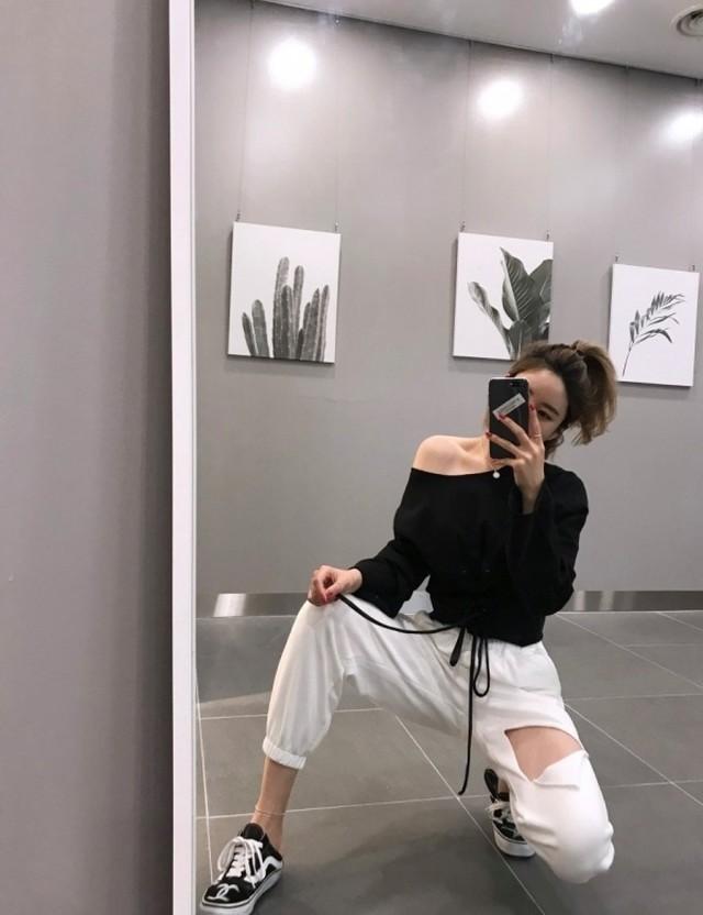 ビンテージカッティングスウェットパンツ スウェットパンツ 韓国ファッション