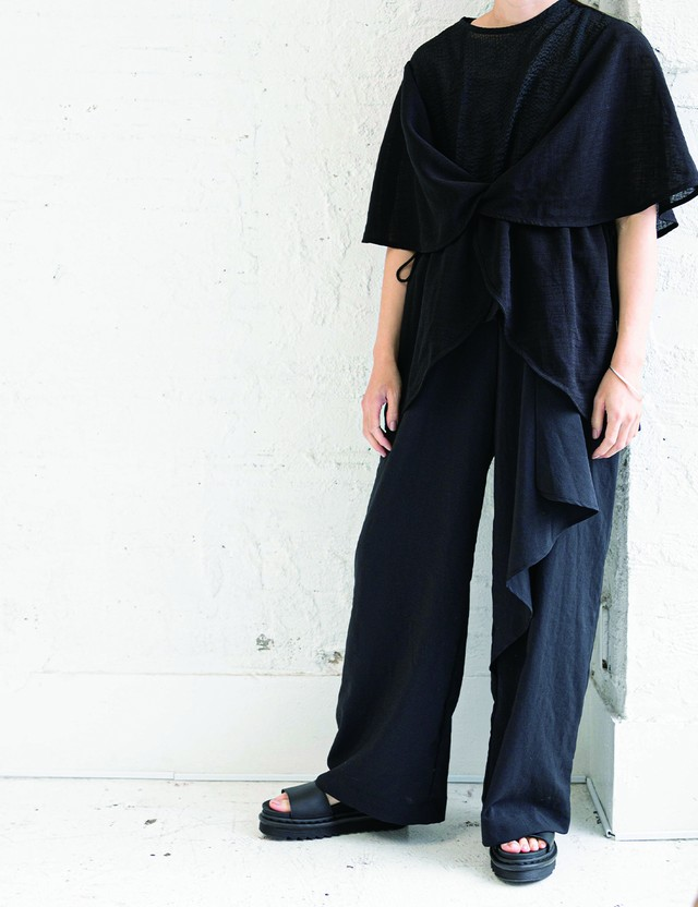Draped pants / Black