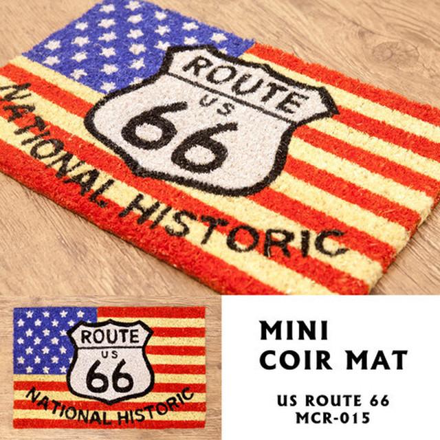 Route 66【玄関マット】MINIコイヤーマット<アメリカン雑貨>route66 ルート るーと66