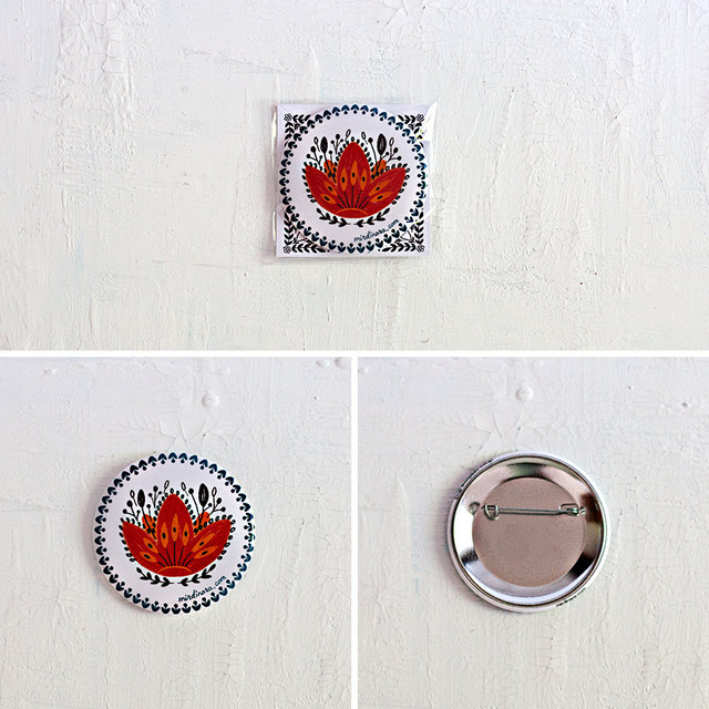 Pin Button - White