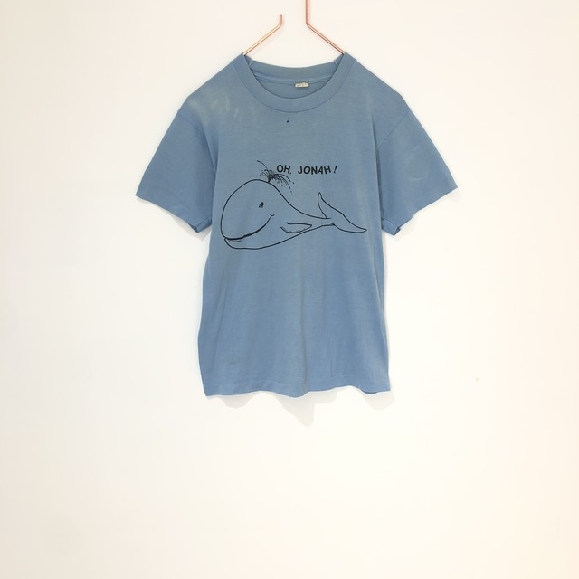 ◼︎80s vintage whale print Tshirt from U.S.A.◼︎