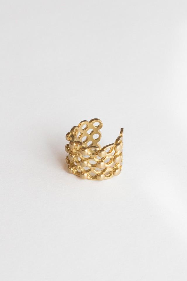 【TAMARI 】Raw brass tsubu ring
