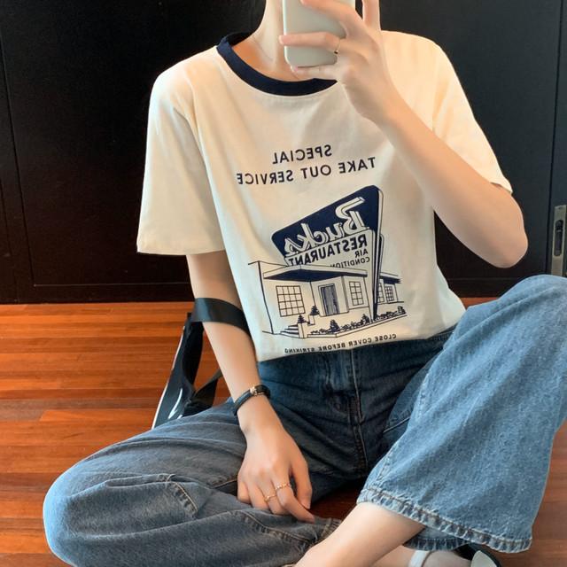 【レディース】シンプルロゴTシャツ