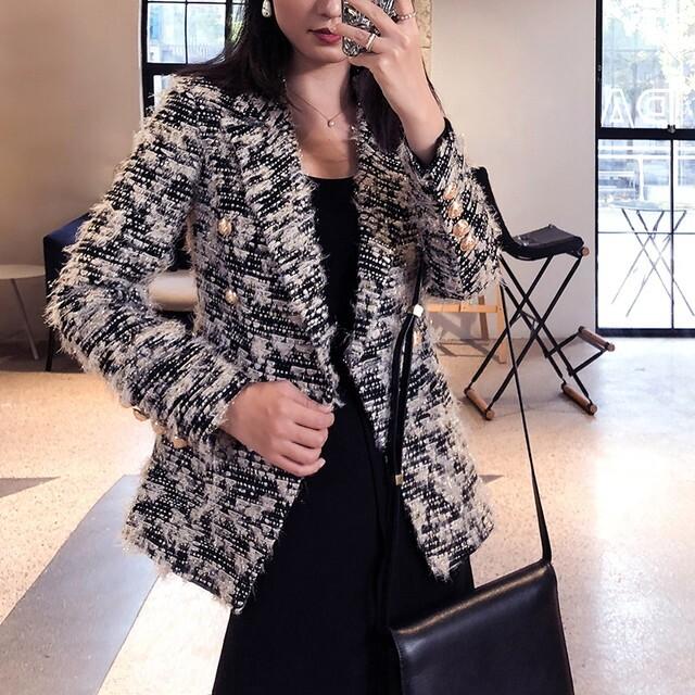 P6357 ジャケット コートジャケットレディース テーラードジャケット ツイードジャケット ツィードジャケット オケージョン 上品 きれいめ クラシカル 大人女子ファッション 20代 30代 40代 秋 冬