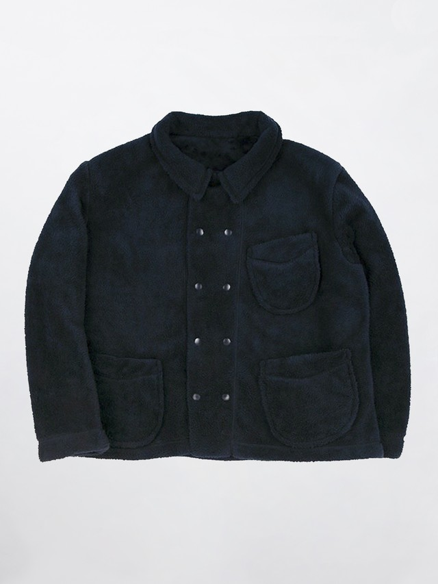 PORTER CLASSIC FLEECE FRENCH JACKET Black PC-022-1450