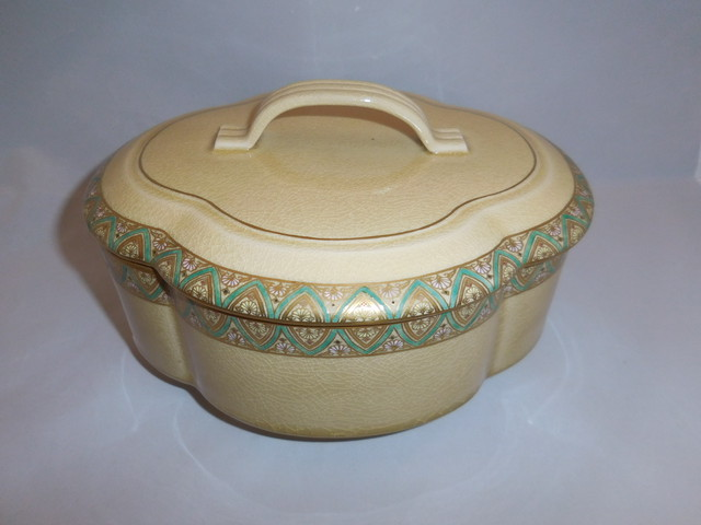 薩摩蓋付菓子鉢 Satsuma pottery box and cover