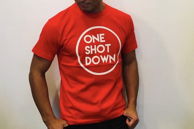ONESHOTDOWN サークルロゴTシャツ(カラー)