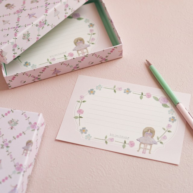 貼り箱入りミニレターセット〜薔薇とコッペリア〜