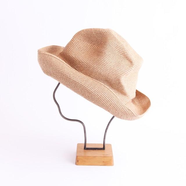 mature ha./BOXED HAT 104 mixbrown×light grey