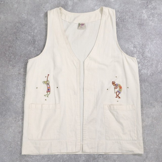 made in USA Kokopelli design vest