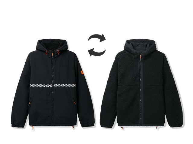 BUTTERGOODS|Base Camp Reversible Sherpa Jacket (Black)