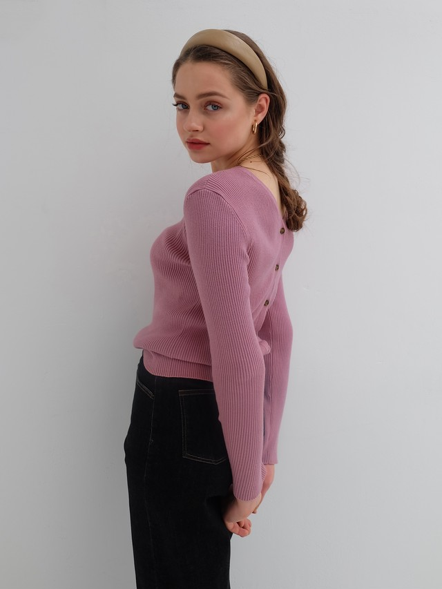 2way rib knit(rose)