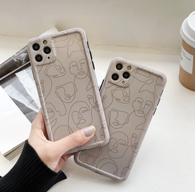 Line art painting iphone case