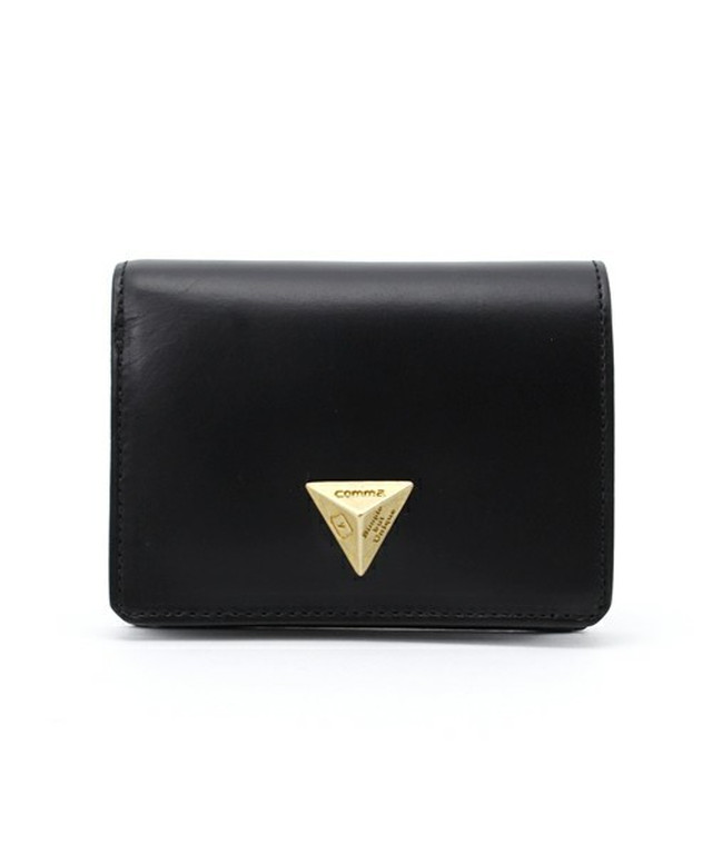 【B品 SALE60%OFF】■Triangle Motif Wallet■三角モチーフ二つ折り財布(ブラック)