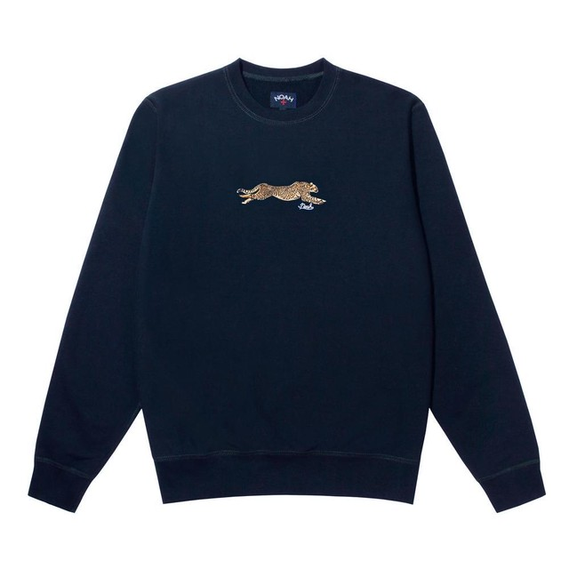 Cheetah Crewneck(Evening Blue)