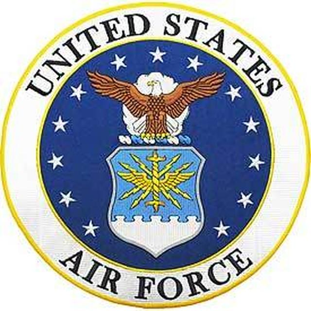 引続きセール主力商品20%OFF!  【ミリタリー】合衆国空軍 U.S.Air Force シンボル【アイロンワッペン】