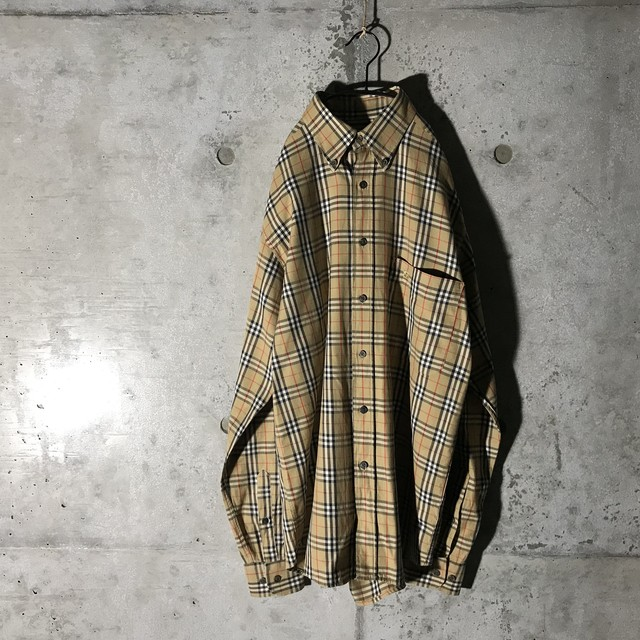 [Burberry]nova check beige shirt