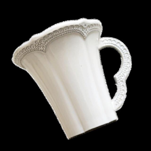 lace scallop mugcup / レース スカラップ マグカップ