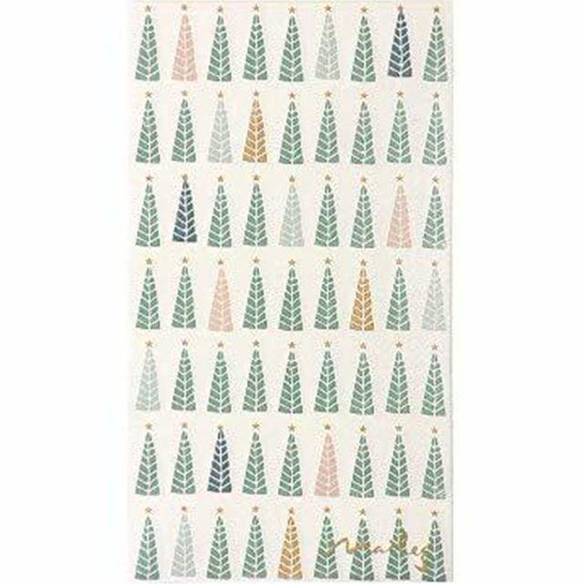 北欧【maileg】バラ売り1枚 ディナーサイズ ペーパーナプキン CHRISTMAS TREES グリーン