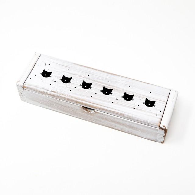 猫ペンボックス(アンティークキャット)