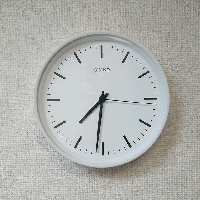 深澤直人 x SEIKO/セイコー STANDARD CLOCK アナログ電波時計  Mサイズ ウォールクロック  SC-KX309-W