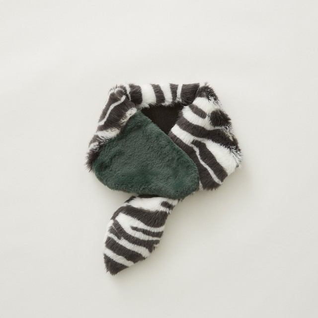 【予約商品 8月納期】eLfinFolk  Rascal muffler  (zebra×green)  Sサイズ elf-212A23
