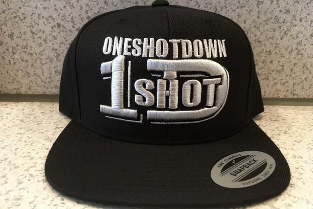 ONESHOTDOWNロゴ3D刺繍CAP