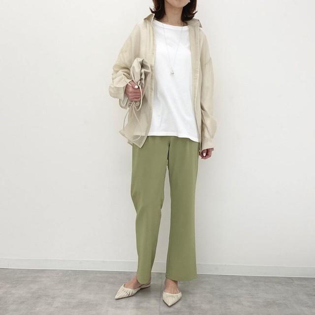 ◆即納◆ 6color ストレート ロングパンツ PT-01