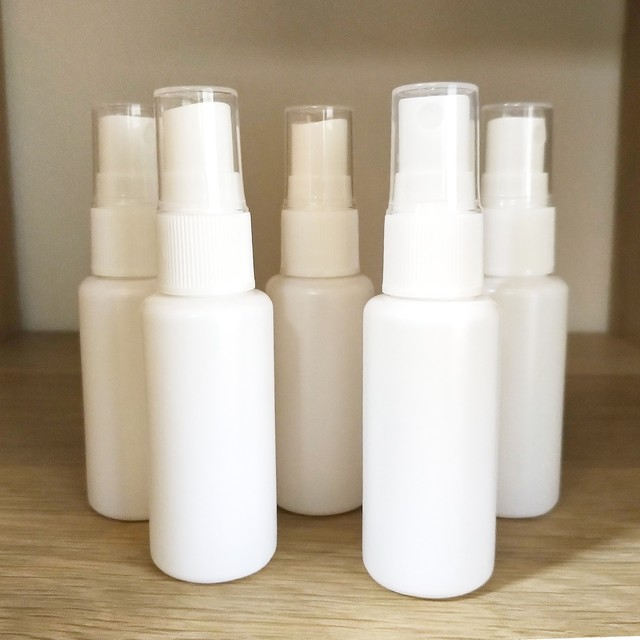 PEスプレーボトル白 30ml 5本セット