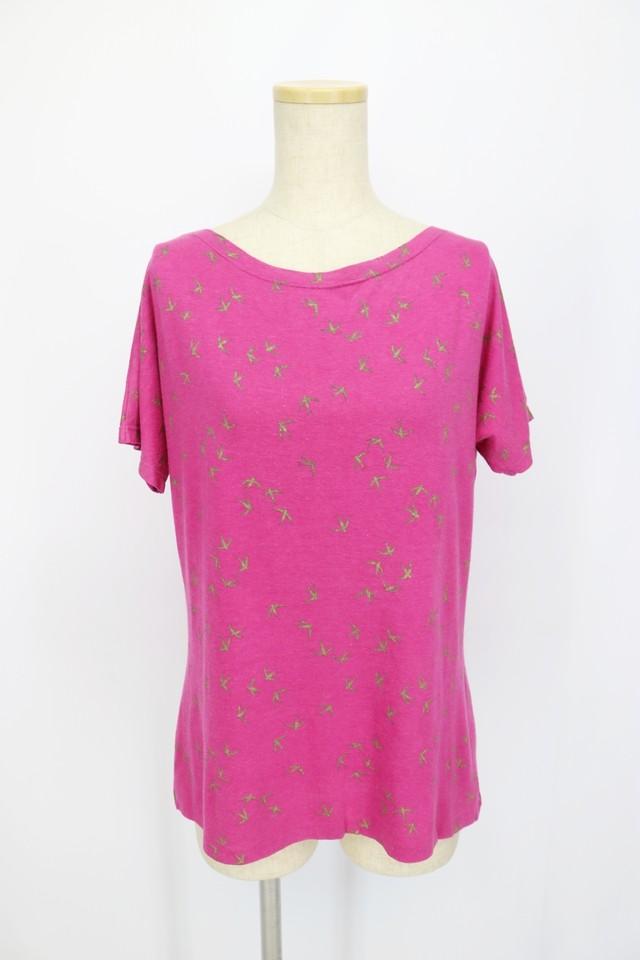print design t-shirt / lavender PNK