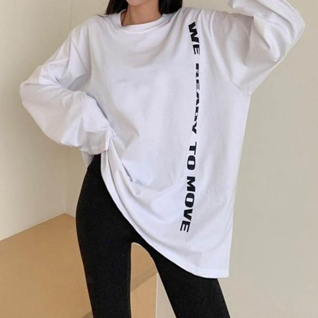 Y-1163 READYレタリングプリントTシャツ ホワイト 0119