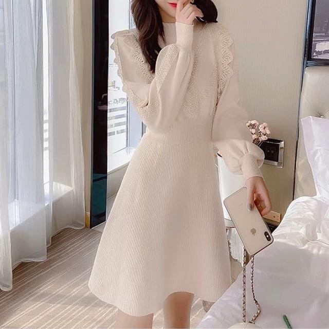 lace tulle lady dress 2color